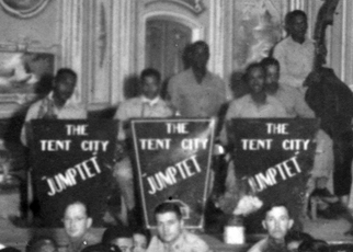 The Tent City Jumptet band during WWII.